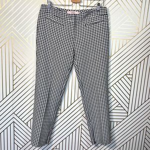 RED Valentino Houndstooth Cropped Trouser Pants